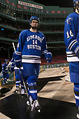 Colin Larkin (UMB - 14) - The UMass Boston Beacons defeated the Babson College Beavers 5-1 on Thursday, January 12, 2017, at Fenway Park in Boston, Massachusetts.