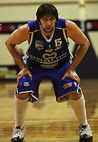 Kevin Owens limbers up before shooting a penalty during the NBL Basketball match between the Wellington Saints and Bay Hawks, TSB Bank Arena, Wellington, New Zealand on Saturday, 10 May 2008. Photo: Dave Lintott / lintottphoto.co.nz
