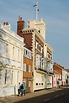Historical buildings in Pembroke Road in Old Portsmouth, Hampshire, England