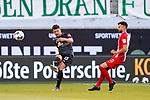 Milos Veljkovic (Werder Bremen #13), Denis Thomalla (1. FC Heidenheim 1846 #11)<br /> <br /> <br /> Sport: nphgm001: Fussball: 1. Bundesliga: Saison 19/20: Relegation 02; 1.FC Heidenheim vs SV Werder Bremen - 06.07.2020<br /> <br /> Foto: gumzmedia/nordphoto/POOL <br /> <br /> DFL regulations prohibit any use of photographs as image sequences and/or quasi-video.<br /> EDITORIAL USE ONLY<br /> National and international News-Agencies OUT.