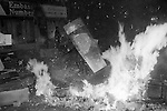 TOXTETH RIOTS LIVERPOOL  ENGLAND 198Os UK