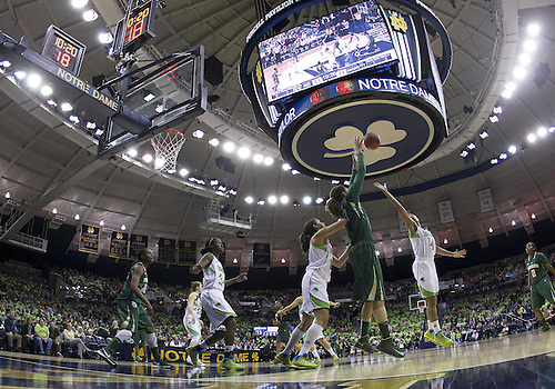 December 05, 2012:  A general view as Baylor center Brittney Griner (42) receives the ball in the post during NCAA Women's Basketball game action between the Notre Dame Fighting Irish and the Baylor Bears at Purcell Pavilion at the Joyce Center in South Bend, Indiana.  Baylor defeated Notre Dame 73-61.