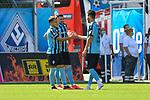 v.l. Waldhofs Mete Celik (Nr.3), Waldhofs Marcel Hofrath (Nr.31) und Waldhofs Mounir Bouziane (Nr.19)  beim Spiel in der 3. Liga, SV Waldhof Mannheim - FSV Zwickau.<br /> <br /> Foto © PIX-Sportfotos *** Foto ist honorarpflichtig! *** Auf Anfrage in hoeherer Qualitaet/Aufloesung. Belegexemplar erbeten. Veroeffentlichung ausschliesslich fuer journalistisch-publizistische Zwecke. For editorial use only. DFL regulations prohibit any use of photographs as image sequences and/or quasi-video.