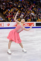 Wednesday, March 30, 2016: Maia Shibutani (USA) skates in the short dance event at  the International Skating Union World Championship held at TD Garden, in Boston, Massachusetts. Eric Canha/CSM