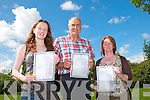 Leaving certificate students from  Listowel  Community College who received there results on Wednesday morning ; secondary school student Emma Makin, Kilmorna, and VTOS students David Ruddle, Asdee & Noranne Enright, Abbeyfeale.