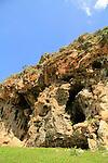 Israel, Upper Galilee, Hamikdash cave overlooking Nahal Kziv