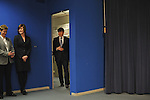 Illinois Governor Rod Blagojevich enters a press conference ahead of his announcement of Roland Burris as Barack Obama's replacement to the U.S. Senate in the Thompson Center in Chicago, Illinois on December 30, 2008.