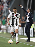 Calcio, Serie A: Juventus - Lazio, Torino, Allianz Stadium, 25 agosto, 2018.<br /> Juventus' Cristiano Ronaldo in action during the Italian Serie A football match between Juventus and Lazio at Torino's Allianz stadium, August 25, 2018.<br /> UPDATE IMAGES PRESS/Isabella Bonotto