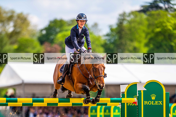 Day 5. Royal Windsor Horse Show. Windsor. Berkshire. UK.  Showjumping. Rolex Grand Prix. Emanuele Gaudiano riding Caspar 232. ITA.  3rd place.13/05/2018. ~ MANDATORY Credit Elli Birch/Sportinpictures - NO UNAUTHORISED USE - 07837 394578