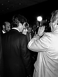 Jane Fonda and husband Tom Hayden<br /> Attending the Premiere of ON GOLDEN POND at Cinema 1 Theatre, New York City.<br /> ( being interviewed by the press / media )<br /> December 1981