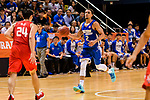 Marcus Ryan Elliott #2 of Eastern Long Lions dribbles the ball up court against the SCAA during the Hong Kong Basketball League playoff game between Eastern Long Lions and SCAA at Queen Elizabeth Stadium on July 24, 2018 in Hong Kong. Photo by Marcio Rodrigo Machado / Power Sport Images