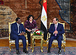 Egyptian President Abdel Fattah el-Sisi, meets with Congolese President Joseph Kabila, in Cairo, Egypt on April 22, 2017.. Photo by Egyptian President Office