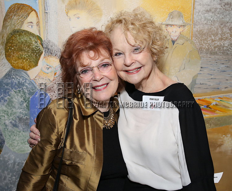 Anita Gillette and Penny Fuller attends The Vineyard Theatre's Emerging Artists Luncheon at The National Arts Club on November 9, 2017 in New York City.