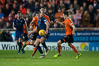 27th December 2019; Dens Park, Dundee, Scotland; Scottish Championship Football, Dundee Football Club versus Dundee United; Sean Mackie of Dundee challenges for the ball with Liam Smith of Dundee United  - Editorial Use