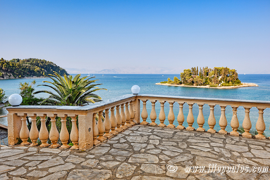 The famous mouse island at Corfu, Greece