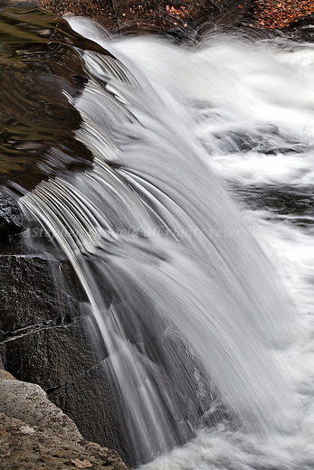 A small but interesting waterfall along the Wells River in Groton, Vermont.