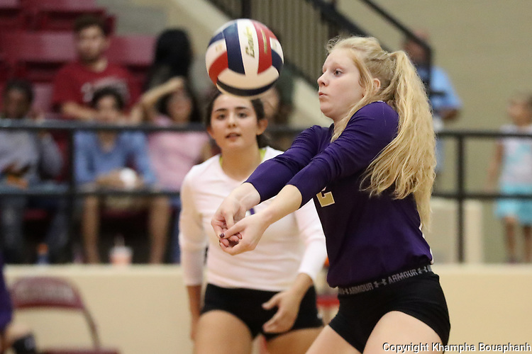Chisholm at Saginaw volleyball, photographed Friday, September 22, 2017. (photo by Khampha Bouaphanh)