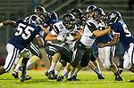 Lawndale, CA 10/18/13 - Shane Scott (Peninsula #18) in action during the Peninsula vs Leuzinger Varsity football game at Leuzinger High School.