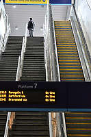 Very quiet London Bridge train station during Coronavirus outbreak in London, England on March 18, 2020.<br /> CAP/JOR<br /> ©JOR/Capital Pictures