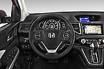 Car pictures of steering wheel view of a 2015 Honda Cr-V Touring 5 Door Suv 2WD Steering Wheel