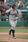 May 24, 2014; Stockton, CA, USA; Pepperdine Waves catcher Aaron Barnett (33) during the WCC Baseball Championship at Banner Island Ballpark.