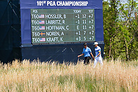 Beau Hossler (USA) and Rafael Cabrera Bello (ESP) head down 13 during round 4 of the 2019 PGA Championship, Bethpage Black Golf Course, New York, New York,  USA. 5/19/2019.<br /> Picture: Golffile | Ken Murray<br /> <br /> <br /> All photo usage must carry mandatory copyright credit (© Golffile | Ken Murray)