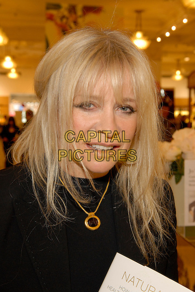 "JO WOOD.At a signing for Jo Wood's ""Naturally"" Organic Beauty products at Harrods, London, England..May 10th, 2007.headshot portrait gold necklace .CAP/FIN.©Steve Finn/Capital Pictures"