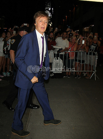 NEW YORK, NY-August 03: Paul McCartney at Tony Bennett Birthday party in honor of 90 years of Musical Legacy  at the Rainbow Room in New York. NY August 03, 2016. Credit:RW/MediaPunch