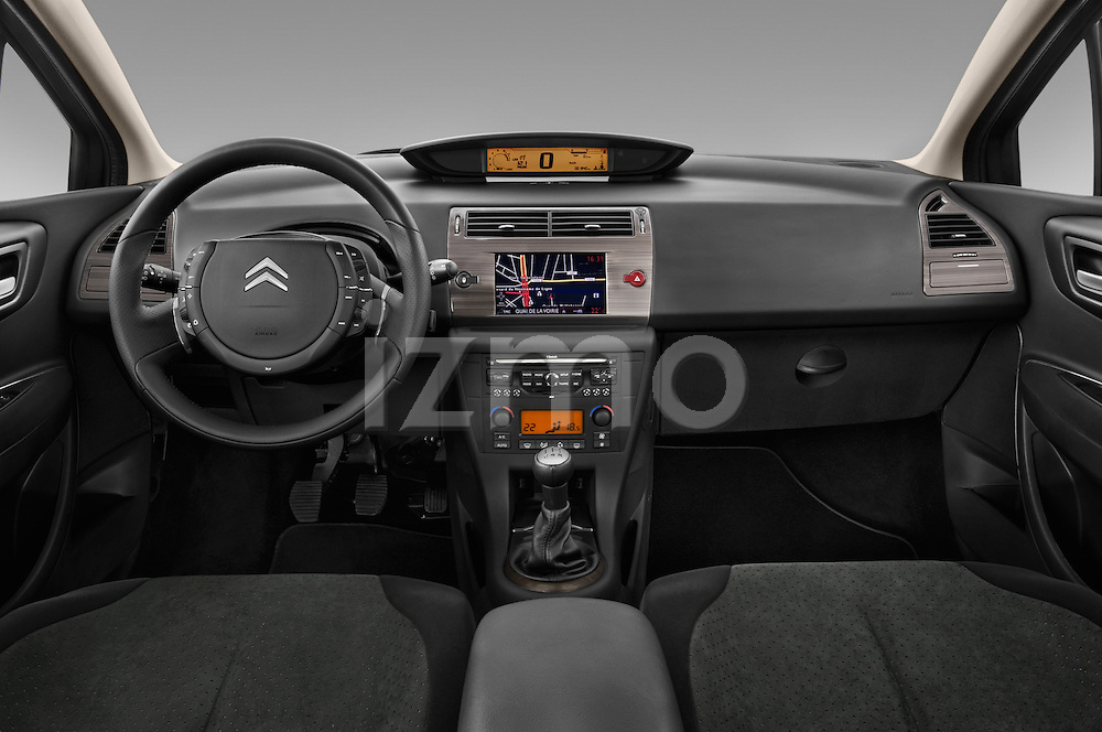 Straight dashboard view of a 2010 Citroen C4 Millenium 5 Door Hatchback 2WD