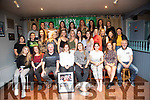Kerry Camogie lady's who were presented with their medals from Capt of Cork Camogie Lady's team Aoife Murray at a special ceremony at Parkers Bar,Kilflynn on Sunday night