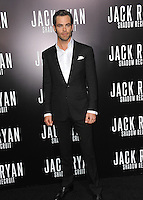 Chris Pine at the Los Angeles premiere of his movie &quot;Jack Ryan: Shadow Recruit&quot; at the TCL Chinese Theatre, Hollywood.<br /> January 15, 2014  Los Angeles, CA<br /> Picture: Paul Smith / Featureflash
