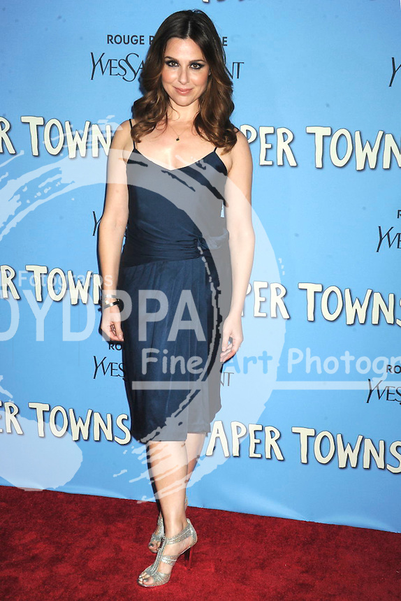 Cara Buono attending the 'Paper Towns' premiere at AMC Loews Lincoln Square on July 21, 2015 in New York Cit