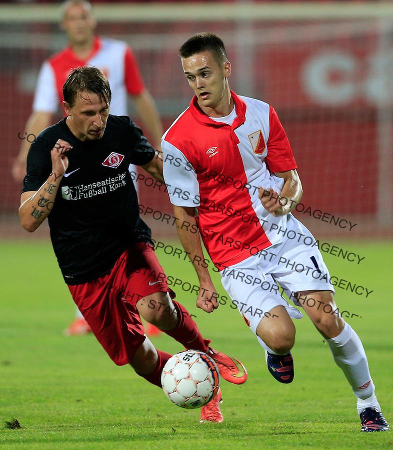 Fudbal UEFA Europa League 2015-2016<br /> Second qualifying round, First leg<br /> Vojvodina v Spartaks Jurmala<br /> Mirko Ivanic (R)<br /> Novi Sad, 16.07.2015.<br /> foto: Srdjan Stevanovic/Starsportphoto &copy;