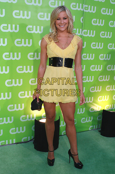 BRITTANY DANIEL.CW All Star Summer TCA 2007 Party held at the Pacific Design Center, West Los Angeles, California, USA,.20 July 2007..full length yellow dress black waist belt.CAP/ADM/CH.©Charles Harris/AdMedia/Capital Pictures.