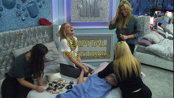 Chloe, Amy, Sally, Eileen and Joel.<br /> Big Brother Summer 2015 - Day 17<br /> *Editorial Use Only*<br /> CAP/NFS<br /> Image supplied by Capital Pictures