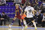 EL FC Barcelona Alusport es clasifica per la final de la Copa del Rei despres de guanyar el partit de tornada de la semifinal 6-1 contra el Azkar Lugo. A la foto Igor