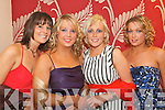 At the Tralee ITT Annual Ball in the Ballyroe Heights Hotel last Wednesday night were L-R Derval Slattery(Listowel)Tara Brett(Tralee)Kristine Sheehan(Killarney)and Angella Moynihan(Moynihan)   Copyright Kerry's Eye 2008
