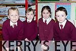 Sean Barry, Jack O'Shea, Alisha O'Sullivan-Reidy and Brian O'Leary at the Knockaderry NS open evening on Friday