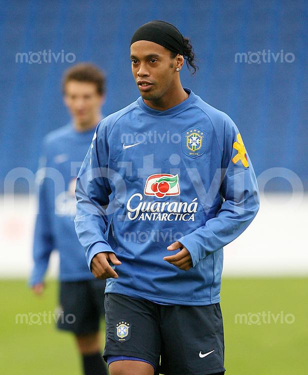 Fussball International  Training Brasilien Ronaldinho