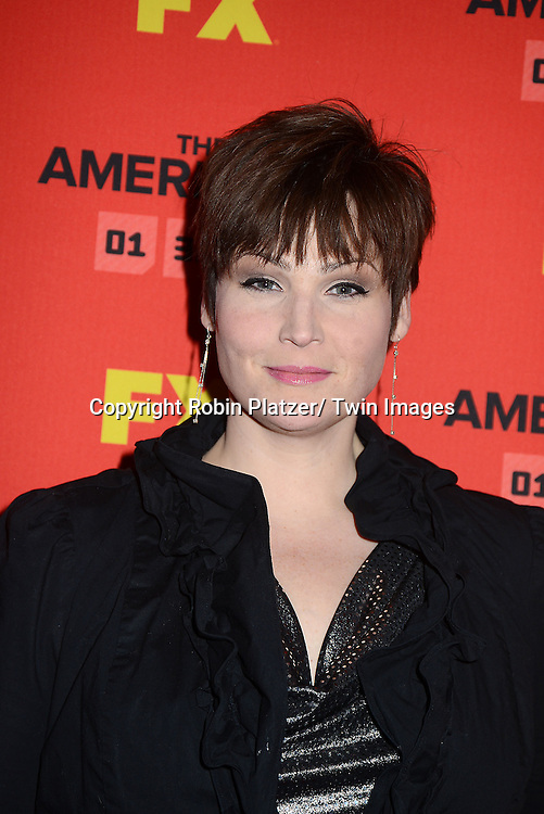 """Lisa Howard attends the premiere screening in New York City of """"The Americans"""" on January 26, 2013 at The DGA Theatre. The tv series will be on FX starting on January 30, 2013 and stars Keri Russell, Matthew Rhys, Noah Emmerich, Holly Taylor and Keidrick Sellati."""