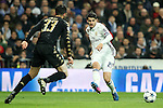 Real Madrid's Alvaro Morata (r) and SSC Napoli's Raul Albiol during Champions League 2016/2017 Round of 16 1st leg match. February 15,2017. (ALTERPHOTOS/Acero)
