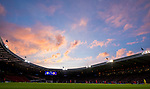 Sunset during the World Cup Qualifying Group F match at Hampden Park Stadium, Glasgow. Picture date 4th September 2017. Picture credit should read: Craig Watson/Sportimage