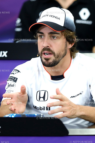 Fernando Alonso (ESP), <br /> OCTOBER 6, 2016 - F1 : Japanese Formula One Grand Prix <br /> at Suzuka Circuit in Suzuka, Japan. (Photo by Sho Tamura/AFLO SPORT) GERMANY OUT