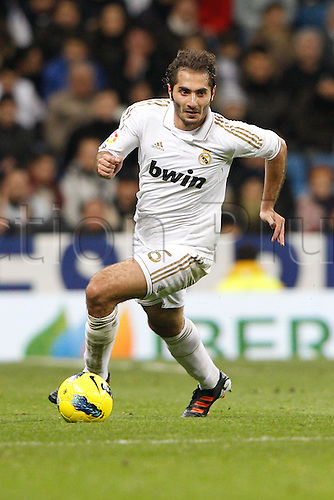 28.01.2012 SPAIN -  La Liga matchday 21th  match played between Real Madrid vs Real Zaragoza at Santiago Bernabeu stadium. The picture shows Hamit Altintop (Real Madrid)