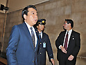 June 26, 2012, Tokyo, Japan : Japan's Prime Minister Yoshihiko Noda walks after the lower house plenary session at the Parliament in Tokyo, Japan, on June 26, 2012.