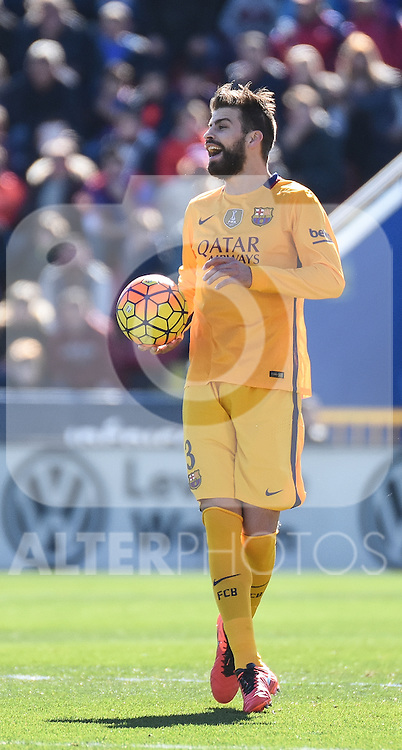 FC Barcelona's Gerard Pique  during La Liga match. February 7, 2016. (ALTERPHOTOS/Javier Comos)