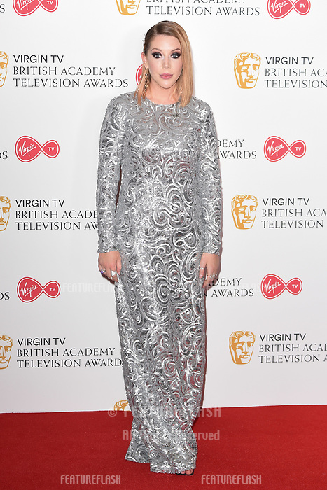 Katherine Ryan in the winners room for the BAFTA TV Awards 2018 at the Royal Festival Hall, London, UK. <br /> 13 May  2018<br /> Picture: Steve Vas/Featureflash/SilverHub 0208 004 5359 sales@silverhubmedia.com