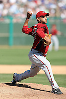 Jordan Norberto. Arizona Diamondbacks spring training game vs. Chicago Cubs at Hohokam Stadium, Mesa, AZ - 03/05/2010.Photo by:  Bill Mitchell/Four Seam Images.