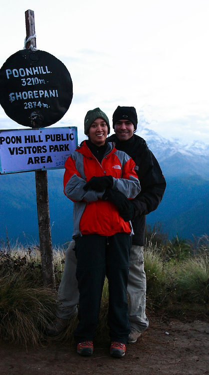 Annapurna Ciscuit Trek, Views from the top of the mountain - Poon Hill.