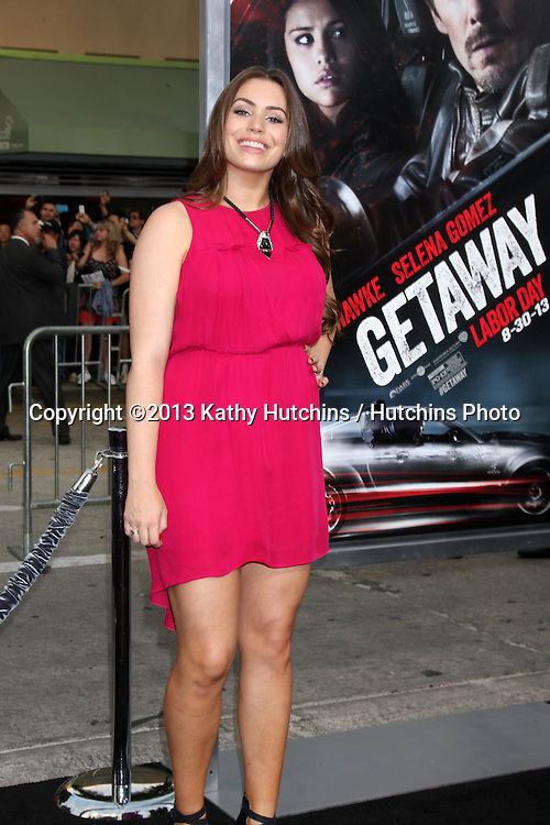"""LOS ANGELES - AUG 26:  Sophie Simmons at the """"Getaway"""" Premiere at the Village Theater on August 26, 2013 in Westwood, CA"""